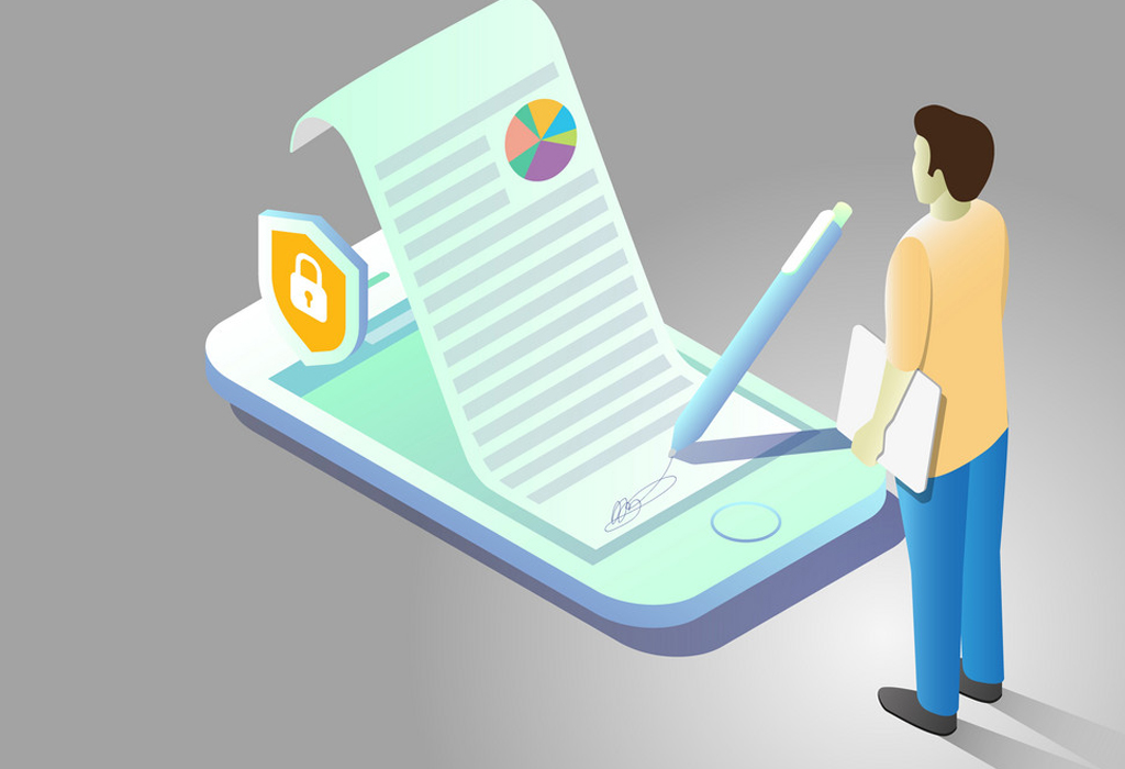 When is it mandatory to file return electronically with digital signature?
